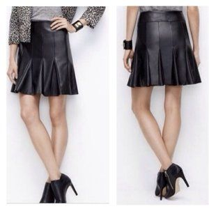 AT Faux Leather Skirt